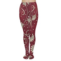 Floral Pattern Background Tights