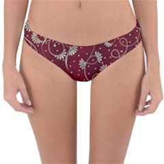 Floral Pattern Background Reversible Hipster Bikini Bottoms