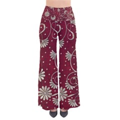 Floral Pattern Background So Vintage Palazzo Pants