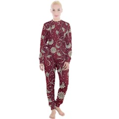 Floral Pattern Background Women s Lounge Set