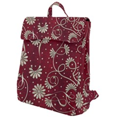 Floral Pattern Background Flap Top Backpack