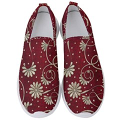 Floral Pattern Background Men s Slip On Sneakers