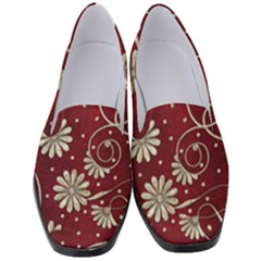 Floral Pattern Background Women s Classic Loafer Heels