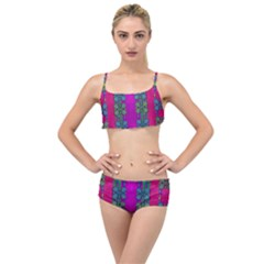 Flowers In A Rainbow Liana Forest Festive Layered Top Bikini Set