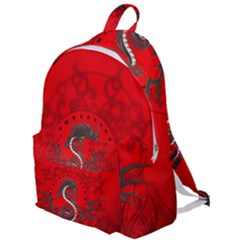 Chinese Dragon On Vintage Background The Plain Backpack