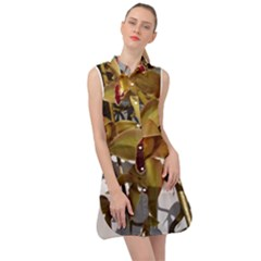 Orchids  1 1 Sleeveless Shirt Dress