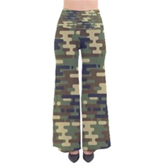 Curve Shape Seamless Camouflage Pattern So Vintage Palazzo Pants