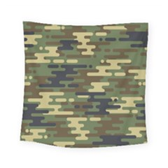 Curve Shape Seamless Camouflage Pattern Square Tapestry (small)