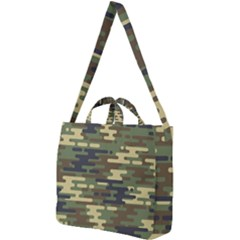Curve Shape Seamless Camouflage Pattern Square Shoulder Tote Bag