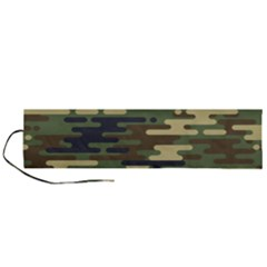 Curve Shape Seamless Camouflage Pattern Roll Up Canvas Pencil Holder (l)