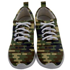 Curve Shape Seamless Camouflage Pattern Mens Athletic Shoes by Vaneshart