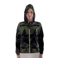 Military Camouflage Design Women s Hooded Windbreaker