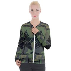 Military Camouflage Design Casual Zip Up Jacket