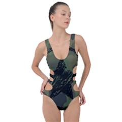 Military Camouflage Design Side Cut Out Swimsuit by Vaneshart