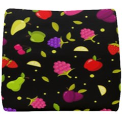 Vector Seamless Summer Fruits Pattern Colorful Cartoon Background Seat Cushion