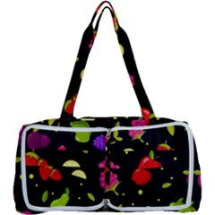 Vector Seamless Summer Fruits Pattern Colorful Cartoon Background Multi Function Bag