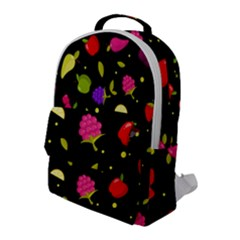 Vector Seamless Summer Fruits Pattern Colorful Cartoon Background Flap Pocket Backpack (large)