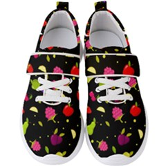 Vector Seamless Summer Fruits Pattern Colorful Cartoon Background Men s Velcro Strap Shoes