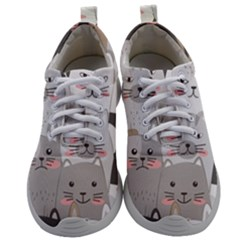 Hand Draw Cats Seamless Pattern Mens Athletic Shoes by Vaneshart