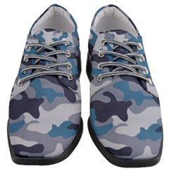 Military Seamless Pattern Women Heeled Oxford Shoes