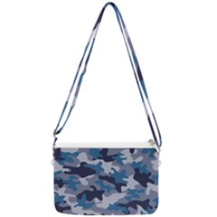 Military Seamless Pattern Double Gusset Crossbody Bag
