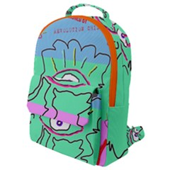 Designed By Revolution Child  u G L Y  Flap Pocket Backpack (small) by designedbyrevolutionchild