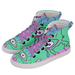 Designed By Revolution Child  u G L Y   Women s Hi-top Skate Sneakers by designedbyrevolutionchild
