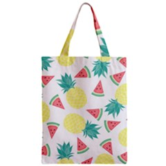 Vector Seamless Pattern With Pineapples Zipper Classic Tote Bag