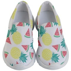 Vector Seamless Pattern With Pineapples Kids  Lightweight Slip Ons by Vaneshart