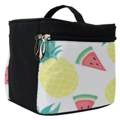 Vector Seamless Pattern With Pineapples Make Up Travel Bag (small)