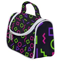 Geometric Seamless Pattern Satchel Handbag