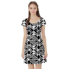 Graphic Design Decoration Abstract Seamless Pattern Short Sleeve Skater Dress