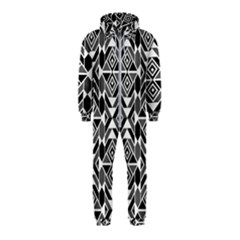 Graphic Design Decoration Abstract Seamless Pattern Hooded Jumpsuit (kids)