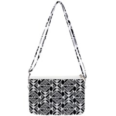 Graphic Design Decoration Abstract Seamless Pattern Double Gusset Crossbody Bag