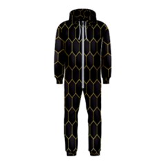 Hexagon Black Background Hooded Jumpsuit (kids)
