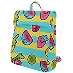 Summer Fruits Patterns Flap Top Backpack by Vaneshart