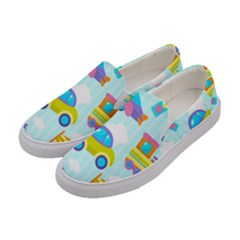 Transport Toy Seamless Pattern Women s Canvas Slip Ons by Vaneshart