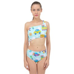 Transport Toy Seamless Pattern Spliced Up Two Piece Swimsuit by Vaneshart