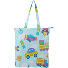 Transport Toy Seamless Pattern Double Zip Up Tote Bag by Vaneshart