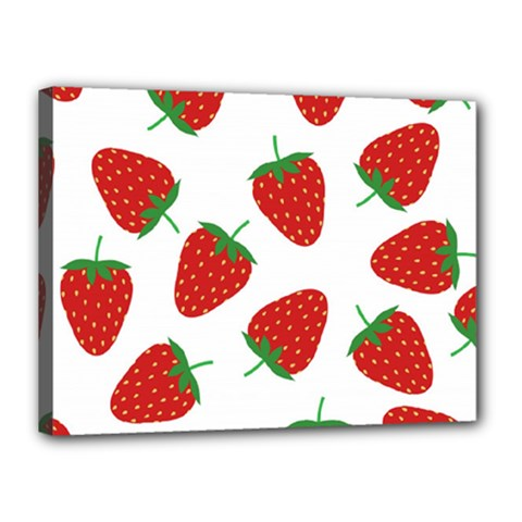 Seamless Pattern Fresh Strawberry Canvas 16  X 12  (stretched) by Vaneshart