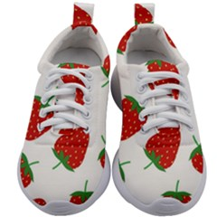 Seamless Pattern Fresh Strawberry Kids Athletic Shoes by Vaneshart