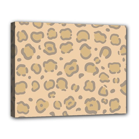 Leopard Print Canvas 14  X 11  (stretched) by Sobalvarro