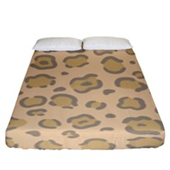 Leopard Print Fitted Sheet (king Size) by Sobalvarro