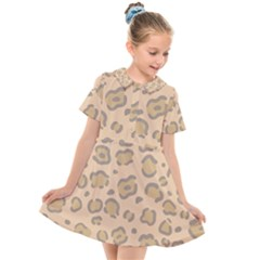 Leopard Print Kids  Short Sleeve Shirt Dress by Sobalvarro