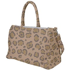 Leopard Print Duffel Travel Bag by Sobalvarro