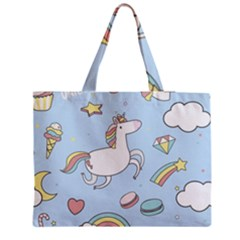 Unicorn Seamless Pattern Background Vector Medium Tote Bag by Sobalvarro