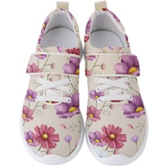 Vector Hand Drawn Cosmos Flower Pattern Men s Velcro Strap Shoes by Sobalvarro
