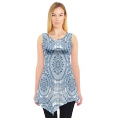 Boho Pattern Style Graphic Vector Sleeveless Tunic by Sobalvarro