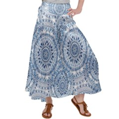 Boho Pattern Style Graphic Vector Satin Palazzo Pants by Sobalvarro