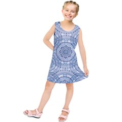 Boho Pattern Style Graphic Vector Kids  Tunic Dress by Sobalvarro